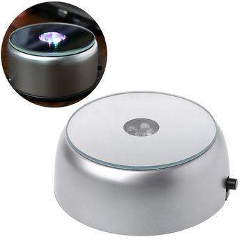 4 LED lampa okrągła podstawa stojak uchwyt na koktajl szkło kryształowe przezroczyste obiekty wyświetlacz tanie i dobre opinie NOMOYPET CN (pochodzenie) Podstawy lamp Luminous Light Base Metal Z tworzywa sztucznego