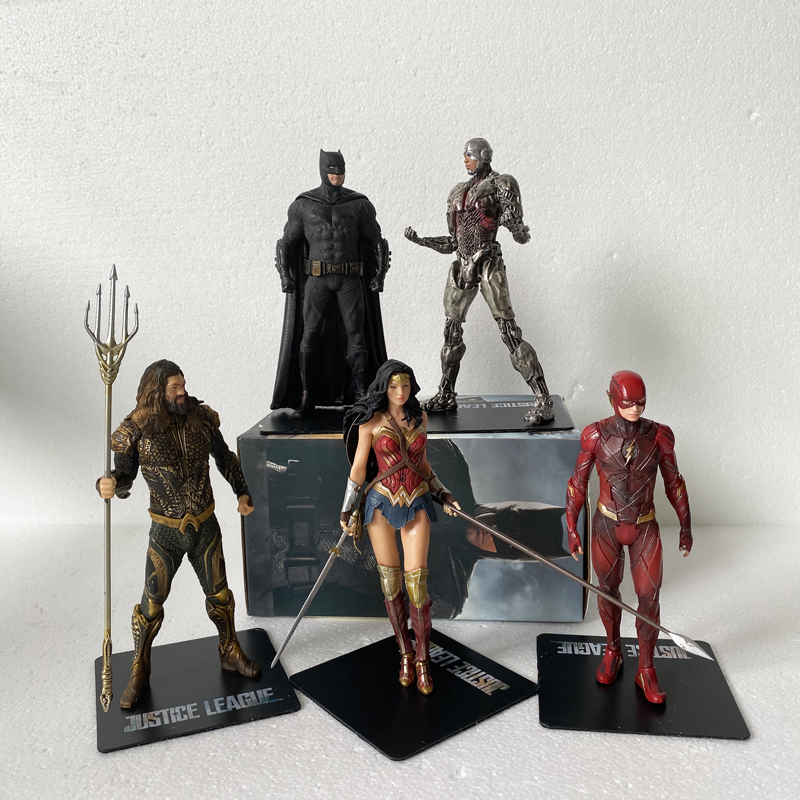 Statue ARTFX DC Justice League Aquaman Batman Flash Wonder Woman Superman Spiderman Action Figure Collectible Model Toy