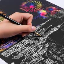 HobbyLane Creative DIY Scratch Bright City Night View Scraping Painting World Sightseeing Pictures as Gifts(China)