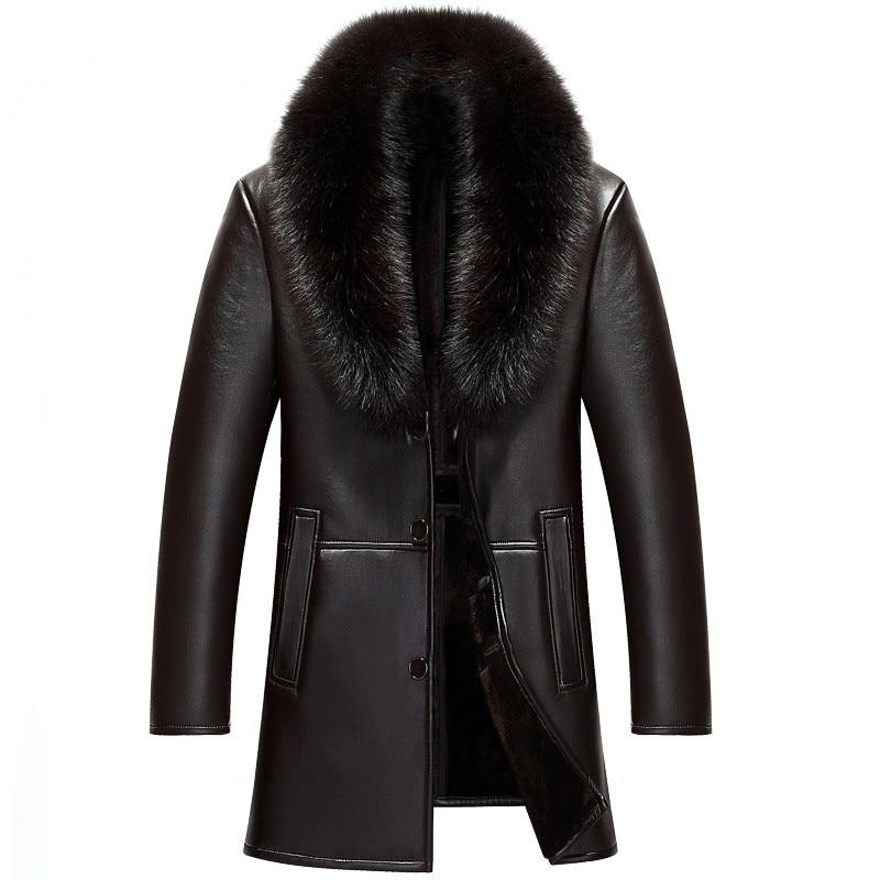 2020 new Japanese and Korean long fur collar fur coat winter lining coat