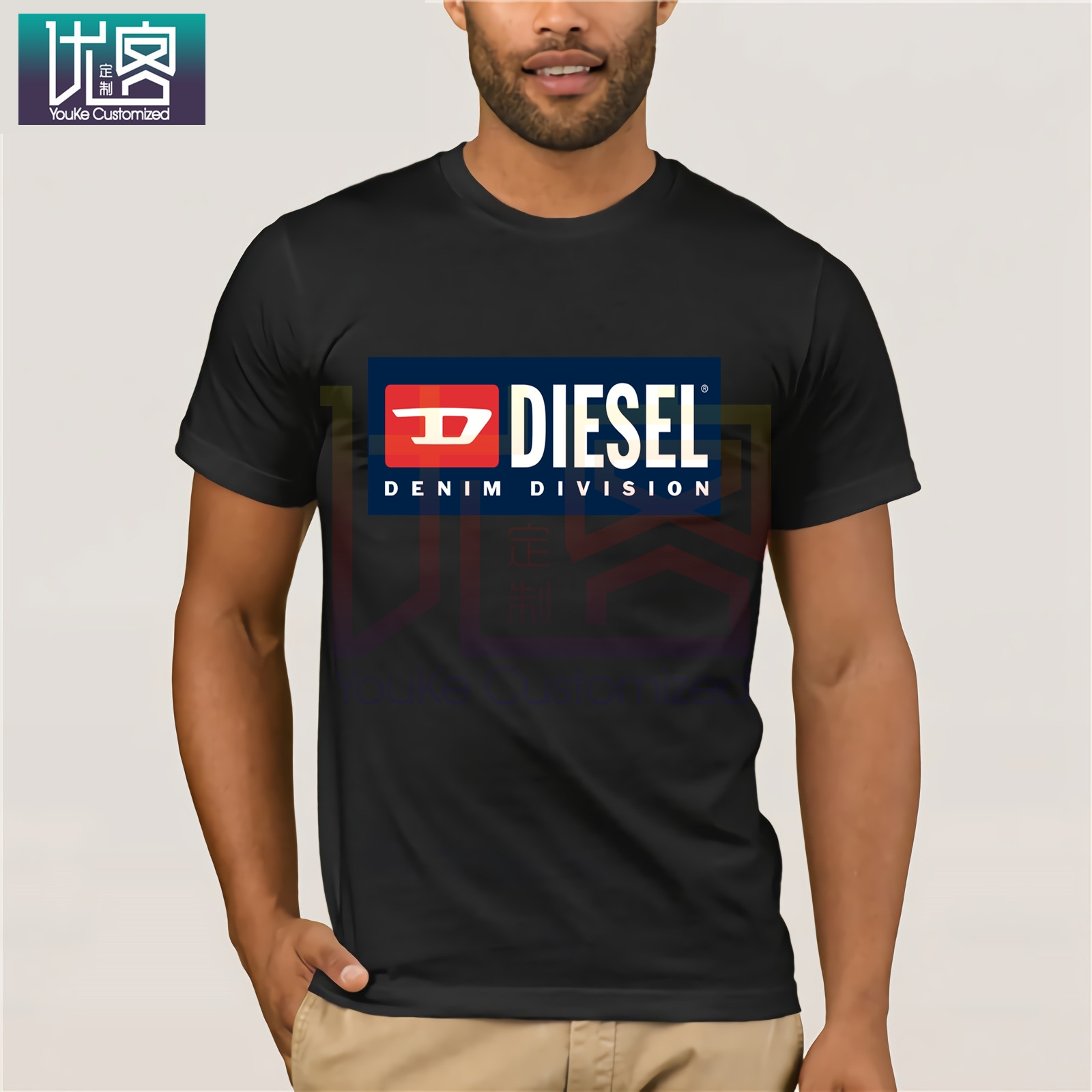 DIESEL New Fashion T-Shirt New Brand Shirt Printed T-Shirt Men's Slim Short Sleeve Shirt Custom Men's Fun Shirt For Men Tops