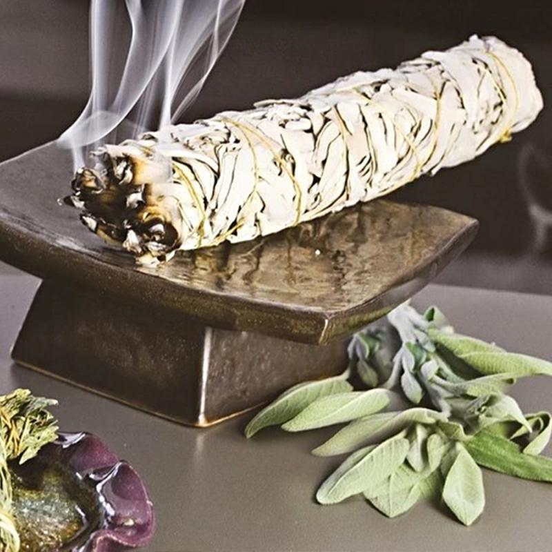 1 Pc Plant Aroma Clean Magnetic Field Smoked Stick White Sage Fragrance Smoked Stick Peace Mood Yoga Indoor Fragrance Tool