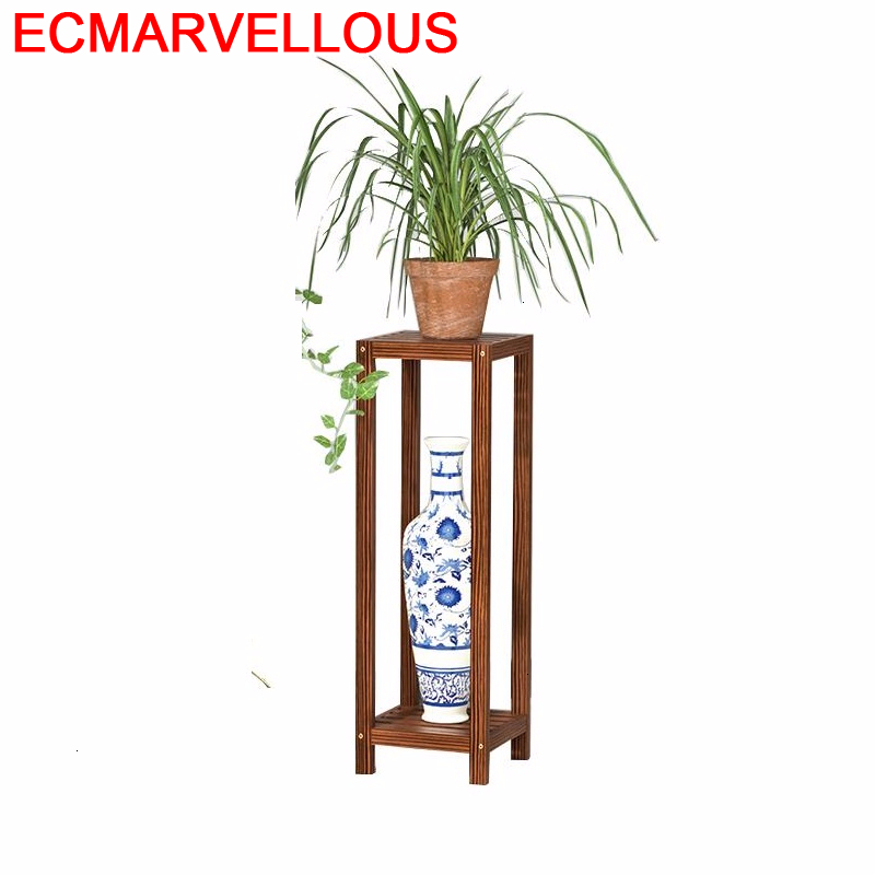 Decorativa Madera Indoor Estanteria Plantas Saksi Standi Garden Shelves For Wood Balcony Shelf Outdoor Flower Rack Plant Stand