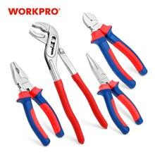WORKPRO 4 قطعة مجموعة أدوات المنزل ذو طيات مجموعة كماشة مشتركة كماشة تشخيص مضخة المياه ذو طيات مفتاح قابل للضبط