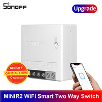 SONOFF-MINIR2 Mini interruptor de dos vías, Wifi, Swcith, Control remoto inalámbrico, cambio de trabajo, con eWelink, Alexa y Google Home