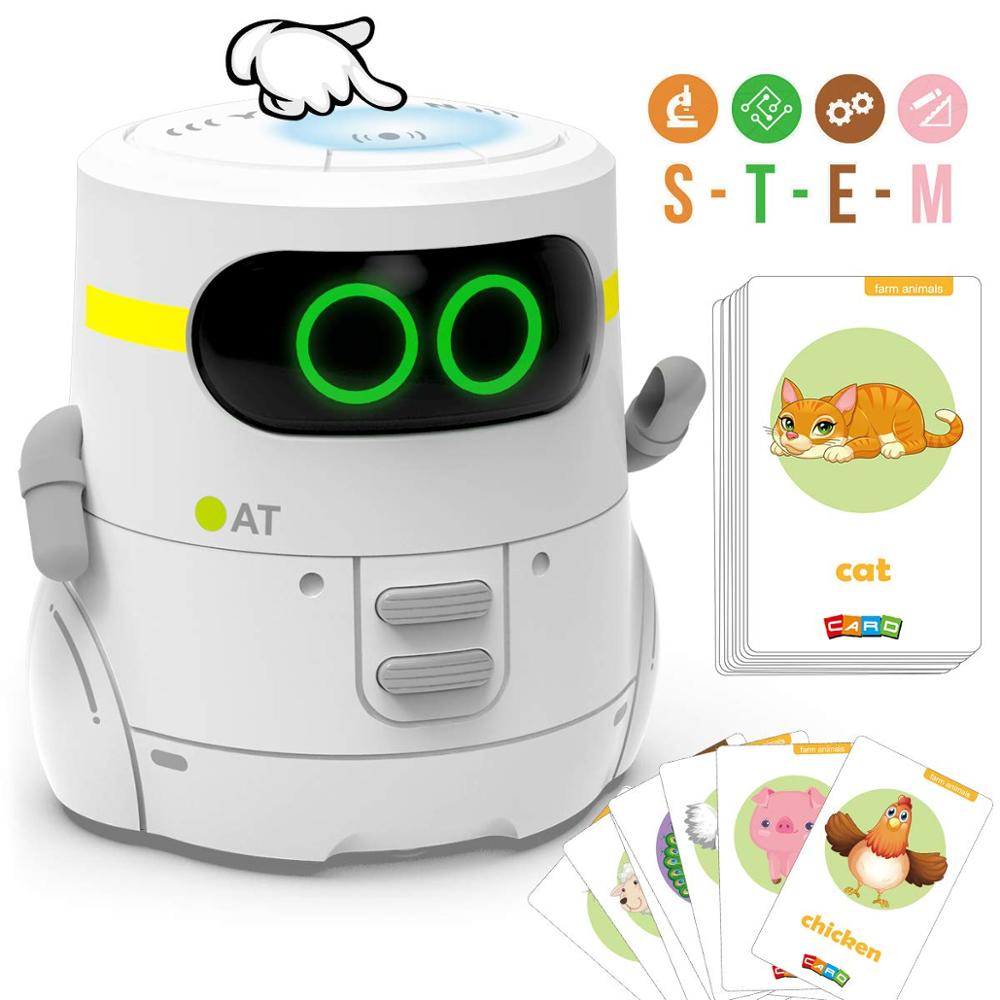 Educational Robot Toy Dance Sing Card Game Touch Sensing Recorder Interactive Kids Learning Partner Smart Robot Gifts for Girl