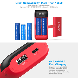Image 3 - XTAR 18650 ładowarka QC3.0 ładowanie TypeC wejście ładowarka podróżna DIY PowerBank 18650 18750 20700 21700 baterie ładowarka USB