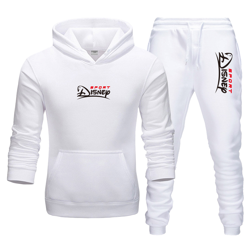 2-Piece Autumn Winter Men's Suit Hoodies + Pants Men Women Casual Sports Hoodie Pants Boutique Brand Warm Sweatshirt Thickened