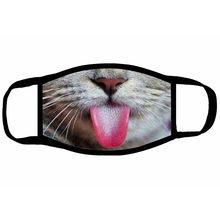 Mascarilla facial Pm2.5 con estampado de gato y perro para exteriores, máscara de protección facial para la boca, no tejida, para Halloween, Unisex