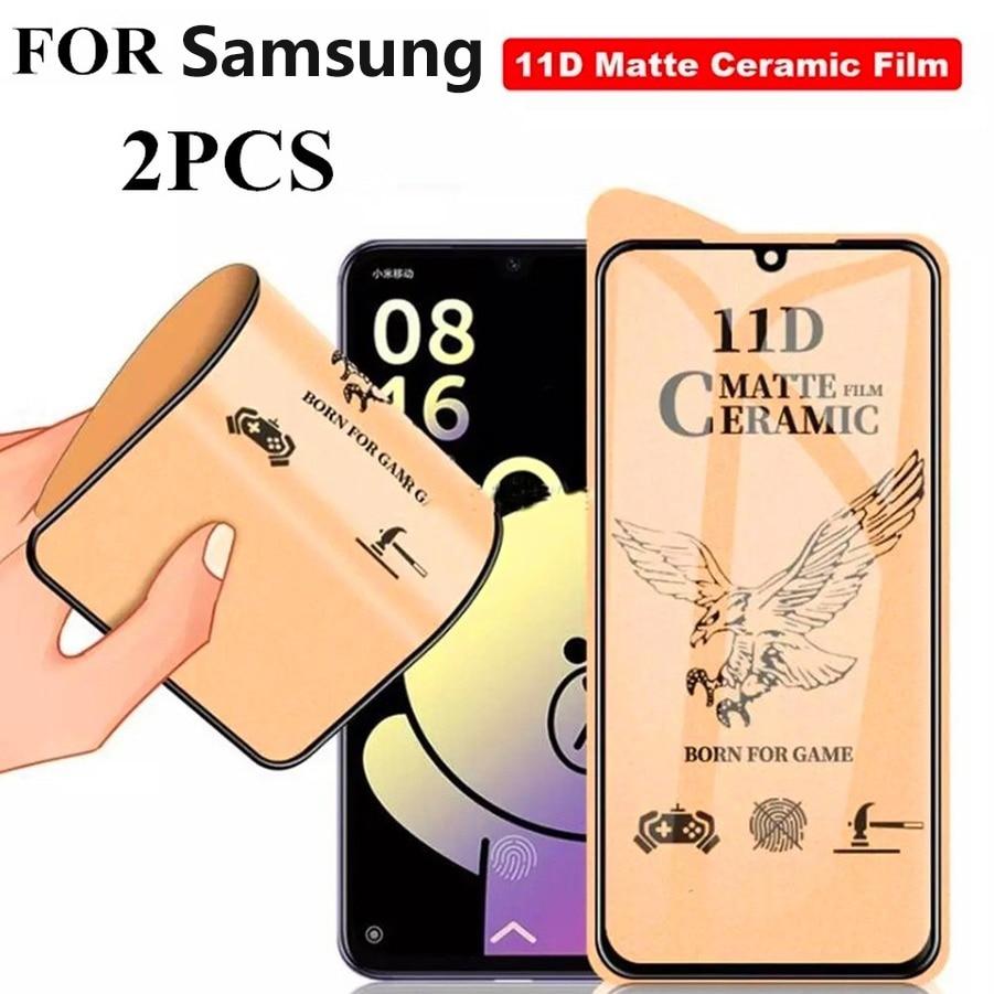 Матовая керамическая Защитная пленка для экрана Note 10 Lite S10 M30S M10 M40 Samsung Galaxy A60 A21 A50 A51 A80 A81 A90 A91 A70