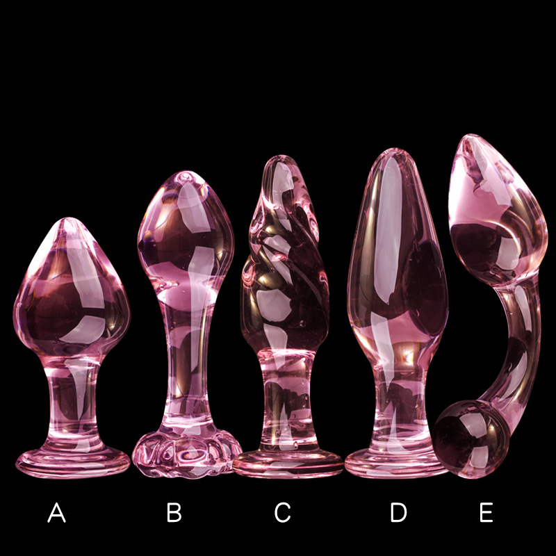 Pink Glass Anal Dildo Plug Crystal Butt Plug Erotic Sex Toy For Women Adult Products For Couples Anal Glass Anal Stimulator