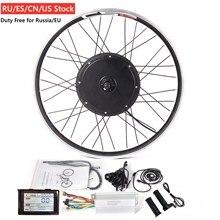 """طقم الدراجة الإلكترونية الجبلية 36 فولت أو 48 فولت 20 """" 29"""" دراجة كهربائية تحويل عدة مع 250/350/500/1000/1500 واط محور المحرك المزدوج الجدار سبيكة عجلة"""