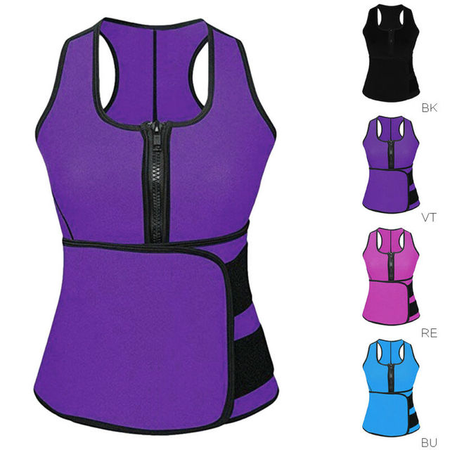 Women Waist Trainer Vest Tank Workout Slim Sweat Belt Body Shaper