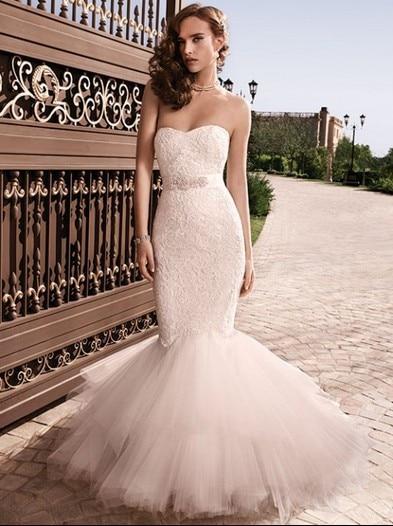 Casamento Bridal Gown Belt Vestido De Noiva 2016 New Sexy Sweetheart Fashionable Lace Long Mermaid Wedding Dress Free Shipping