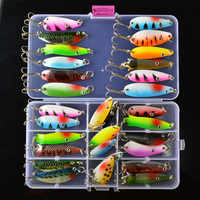 TOMA Spinners Fishing Lure Kit Mixed color/Size/Weight Metal Spoon Lures Hard Bait Fishing Tackle Iscas Atificial Bass Pike Bait