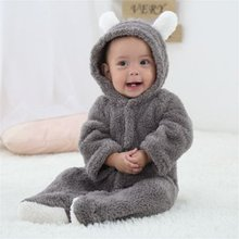Baby Rompers Newborn Infant Baby Cartoon Cute Animal Shaped Romper Long-sleeved Jumpsuits Baby Clothes Hooded Cute Clothing Hot yierying baby clothing autumn and winter baby rompers long sleeves cotton hooded infant clothes cartoon newborn jumpsuits