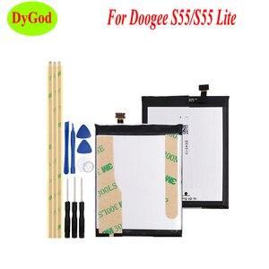 Image 1 - 5500 мАч Для Doogee S55 запасная батарея, Высококачественная батарея Для Doogee S55 Lite + Инструменты