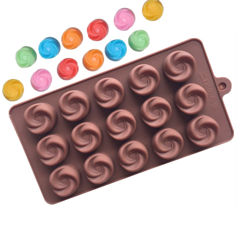 15 Holes Whirlpool Silicone Chocolate Mold, Silicone Cake Mold