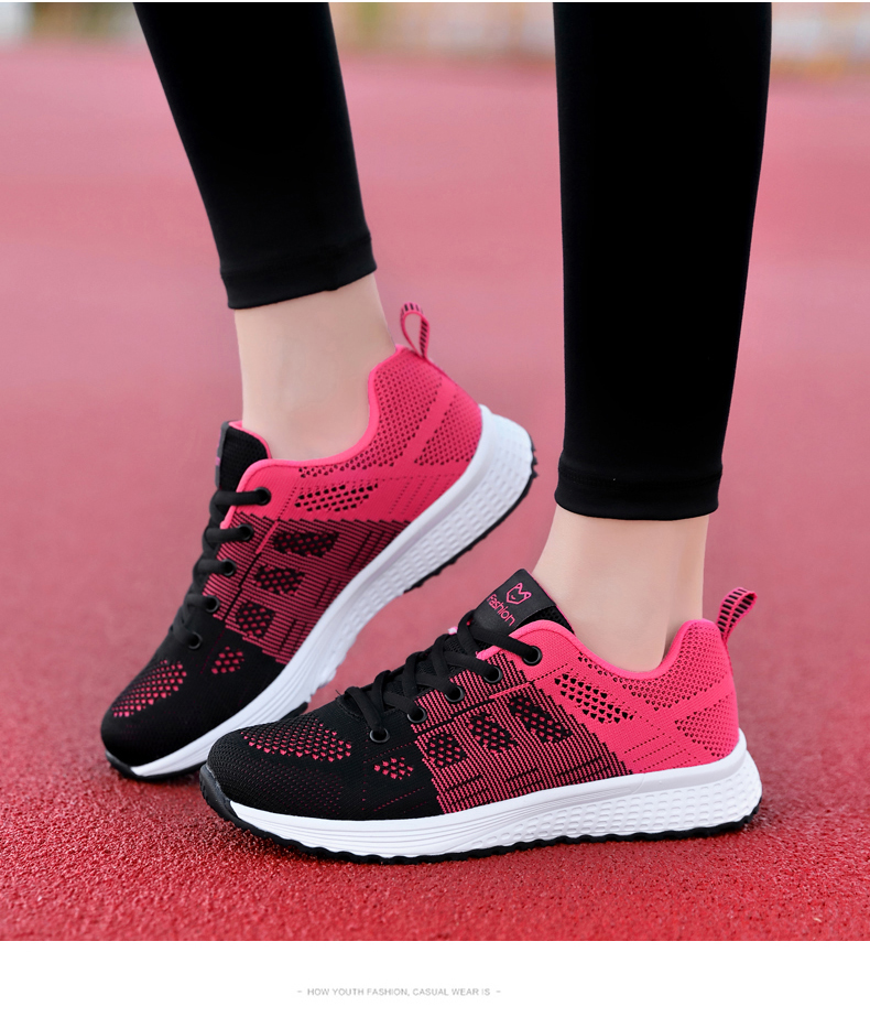2020 Women Sport Shoes Fashion Platform Sneakers Ladies Spring Winter Flats Running Shoes Woman