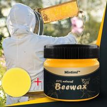 Wood Seasoning Beewax Complete Solution furniture Care Beeswax Home Cleaning воск для мебели reparación madera#TD06