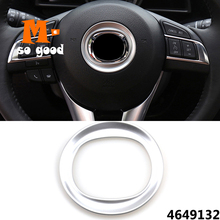 цена на ABS Chrome For Mazda CX-5 CX5 Car Steering Wheel Panel trim Cover auto Interior Accessories styling 2012 2013 2014 2015 2016