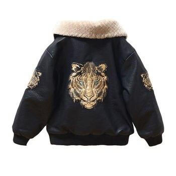 2020 Baby Girl Boy Spring Autumn Winter PU Coat Jacket Kids Fashion Leather Jackets Children Coats Overwear Clothes