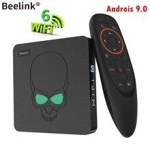 Beelink-Dispositivo de TV inteligente gt-king, decodificador con Android 9,0, Amlogic S922X, 4G, DDR4, 64G, EMMC, WIFI, 6, 1000M, LAN, 4K, 3D, Bluetooth 4,0, reproductor multimedia