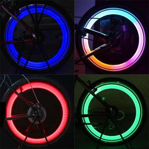 Cycling Motorcycle Car Bike Bicycle Wheels Spokes Flash Light Lamp Riding Mountain Road Bike Wheel Lights LED Neon Lamp Cover
