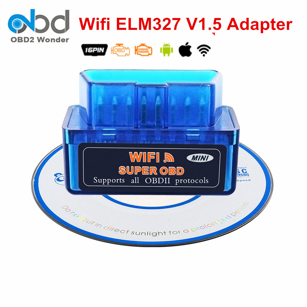 2019 Super Mini ULME 327 WIFI 1,5 Diagnose Auto Scanner <font><b>ELM327</b></font> <font><b>V1.5</b></font> IOS Andorid PC <font><b>OBD2</b></font> Diagnose Code Reader <font><b>ELM327</b></font> wi fi image