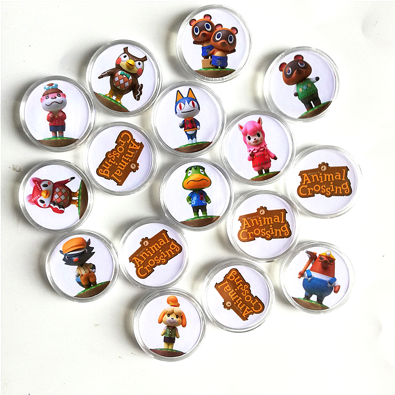 Fast Shipping Animal Crossing Festival Of Amiibo Collection NFC Card Coin Game Tag 16Pcs/set