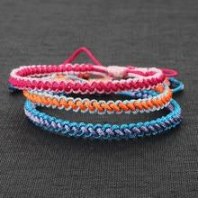 Bracelet bouddhiste tibétain multicolore pour hommes et femmes, nœuds faits à la main, corde porte-bonheur tressée, taille réglable, nouvelle collection