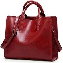 Leather Bags Women Big Top-handle Bags Ladies Hand