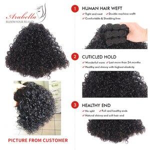 Image 2 - Splecione kręcone włosy wiązki 1/3 wiązki naturalny kolor Remy 100% doczepy z ludzkich włosów Arabella podwójne pasma włosów wiązki