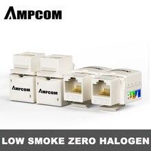 Ampcom cat6/cat5e perfurador para baixo keystone jack, rj45 módulo de acoplador modular parede plug adaptador conector