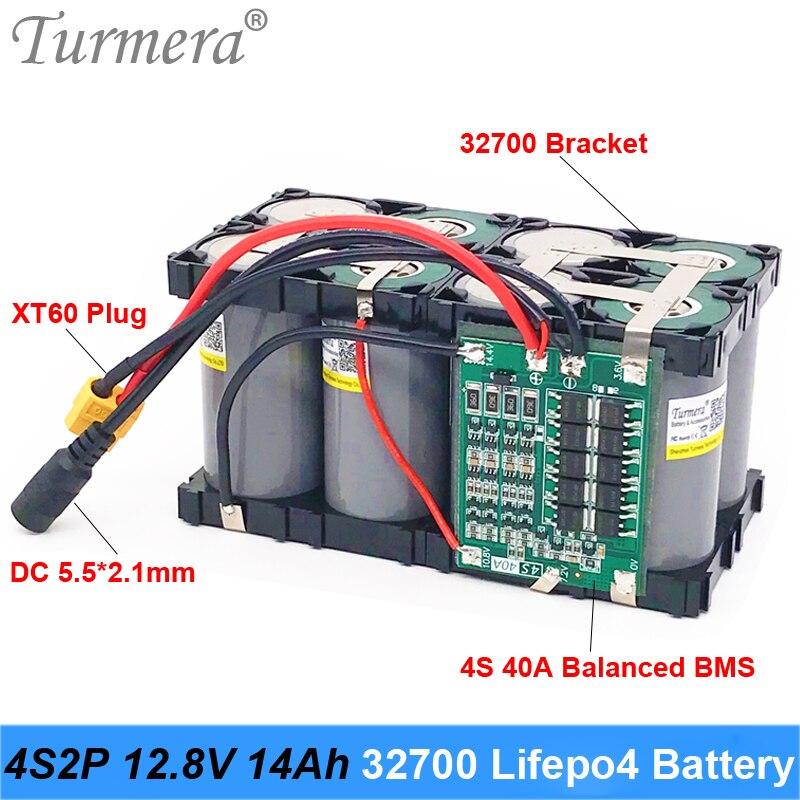 Turmera 32700 lifepo4 bateria 4s2p 12.8 v