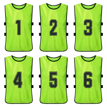 6 PCS Kid's Basketball Pinnies Quick Drying Basketball Jerseys Youth Sports Scrimmage Soccer Team Training Bibs Practice Vest