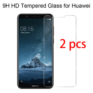 2pcs! Toughed Tempered Glass 9H HD Protective Glass for Huawei P20 Pro P10 Plus P9 Lite Screen Protector on Huawei P8 Lite(China)