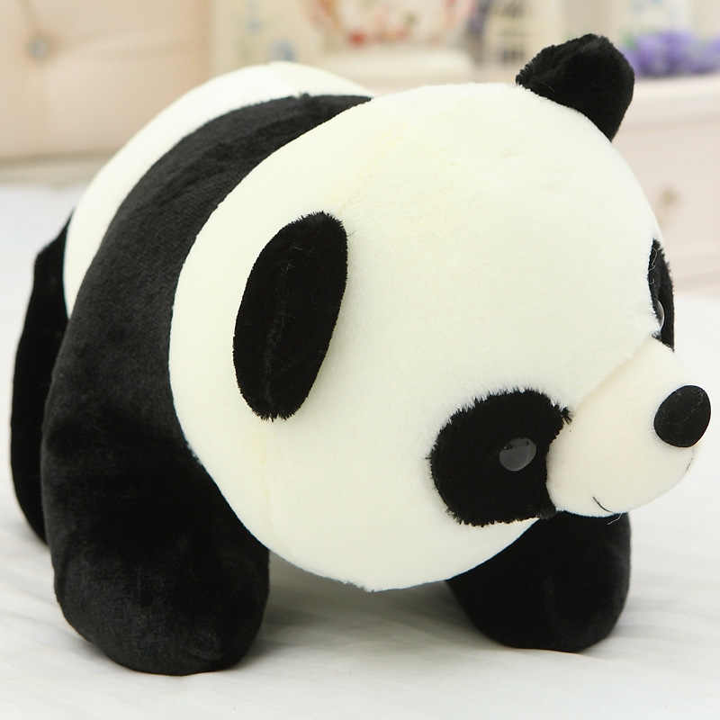 "2019 Beanie Babies 6"" 20cm Ming The Panda Bear Plush Regular Stuffed Animal Collection Soft Doll Toy with Heart Tag"