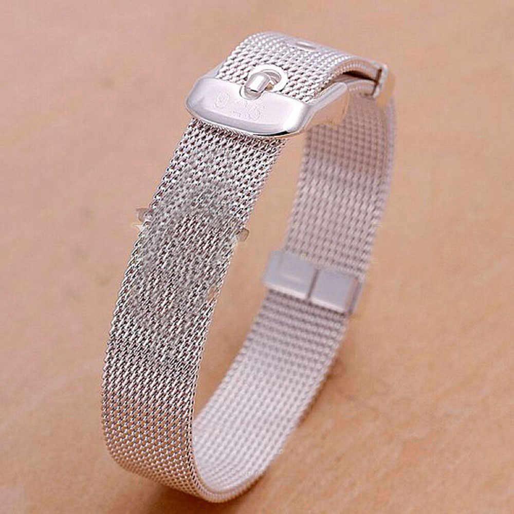 רצועת השעון 24mm אוניברסלי נירוסטה מתכת להקת שעון רצועת צמיד כסף 10X