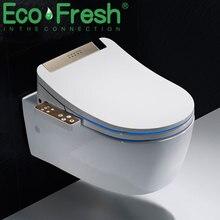 Ecofresh смарт-чехол для унитаза для ванной комнаты, электронное биде, чистое сухое сиденье с подогревом, wc Золотой Интеллектуальный светодиодный светильник, сиденье для унитаза