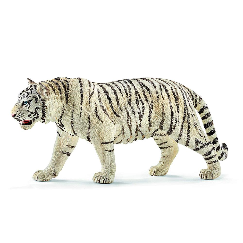 6.2inch White Tiger PVC Figures 14731 Wild Life Animal Educational Creature Toys For Children Boys And Girls image