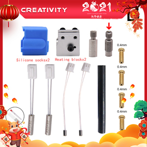 Image 1 - 3D Printer Extruder Sidewinder X1/Genius Silicone Nozzle Kit Throat Handle Thermistor Heating Pipe Heated Block for Artillery