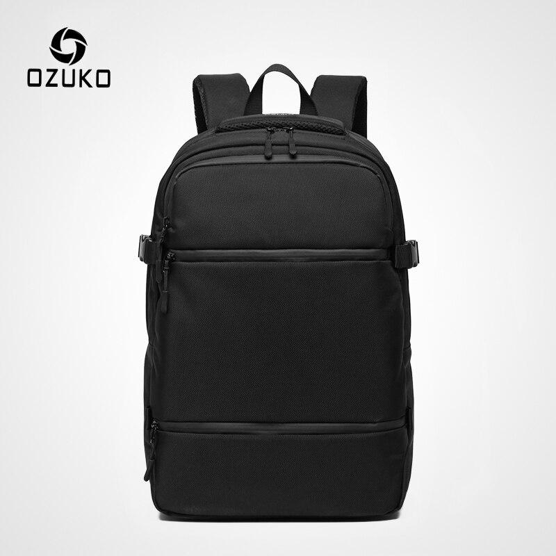 OZUKO casual hydrofuge hommes 15.6 pouces sacs à dos d'ordinateur portable mode cartable pour garçons adolescent voyage sac à dos mâle Mochilas