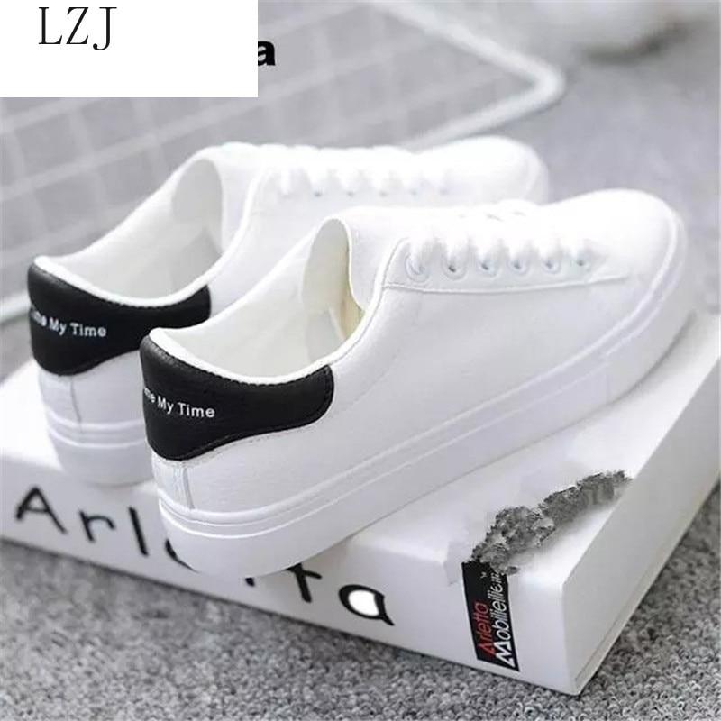Женские кроссовки 2020 Повседневная обувь модные белые кроссовки на платформе с круглым носком на шнуровке Zapatillas Mujer Светоотражающая полоса дизайнерские