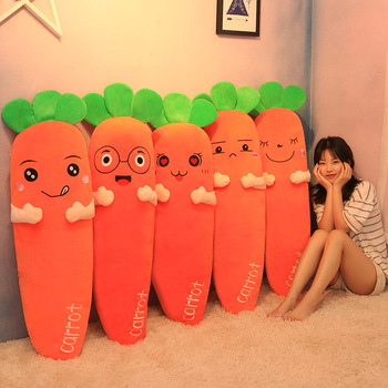 40/110cm Cartoon Carrot Plush toy Cute Simulation Vegetable Carrot Pillow Dolls Stuffed Soft Toys for Children Gift M146 cute simulation french fries pillow dolls