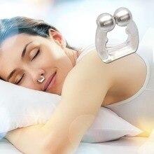 Силиконовый магнитный зажим для носа, анти храп, стоп храп, триммер для носа, унисекс, инструмент для ночного сна, Прямая поставка