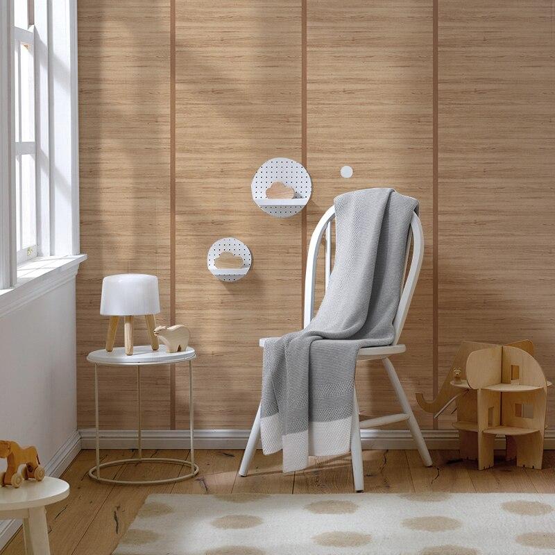 Épaissir Vintage chinois bois motif papier peint 3d Style japonais lin Texture PVC étanche papiers peints étude chambre décor à la maison