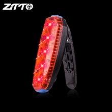 ZTTO светодиодный велосипедный задний светильник, сумка с зажимом для бега, USB светильник, водонепроницаемый, для спорта на открытом воздухе, Li аккумулятор, перезаряжаемый, дорожный велосипед, велосипед, WR03