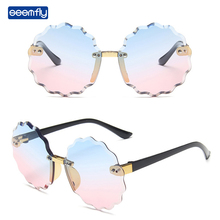 Flower Sunglasses Colorful Eyewear Fashion Shades Children Girls Seemfly Rimless