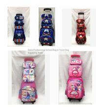 Conjunto de mochilas escolares con ruedas para niños, mochila con carro con ruedas, para la escuela